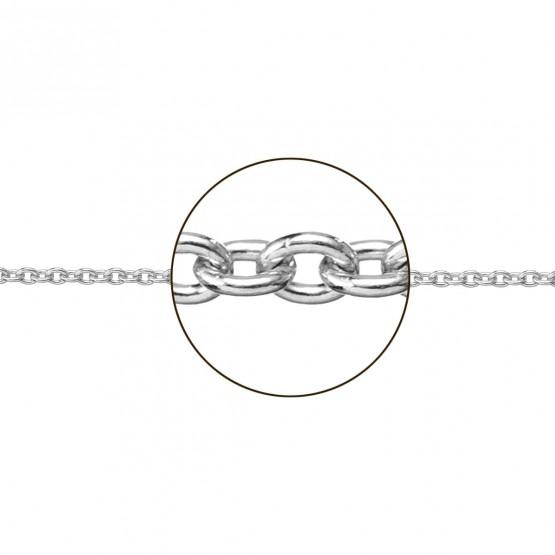 Cadena de oro blanco 18k modelo rolo (066271025)