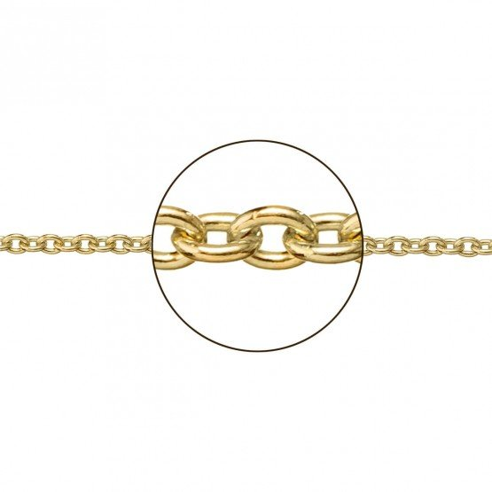 Cadena de oro amarillo de 18k en forma rolo (066271030)