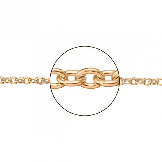 Cadena de oro rosa de 18k en forma rolo 1.30mm (066273035)