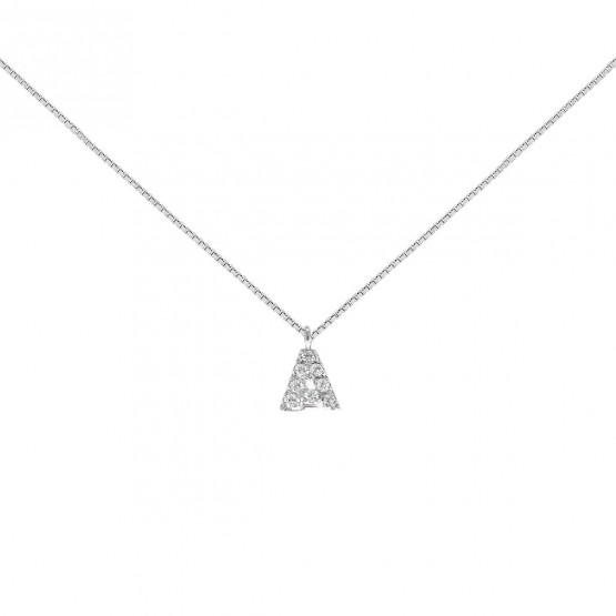 Colgante letra oro con diamantes (0513100)-A