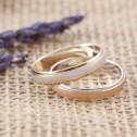 Alianza de boda dos oros blanco y amarillo 4mm (5240312)