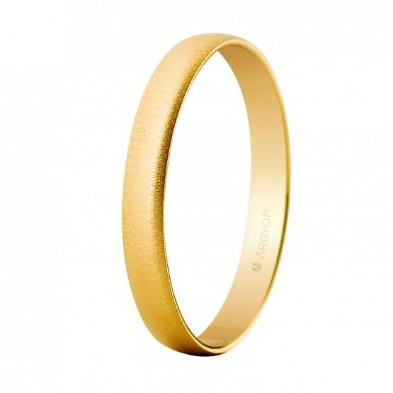 Alianza de boda oro amarillo 3mm texturizada (50302T)