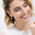 Pendientes de novia oro blanco con 14 diamantes 0.26ct (75B0008)
