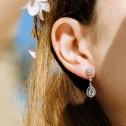 Pendientes de novia con topacios y diamantes (75B0208TT)