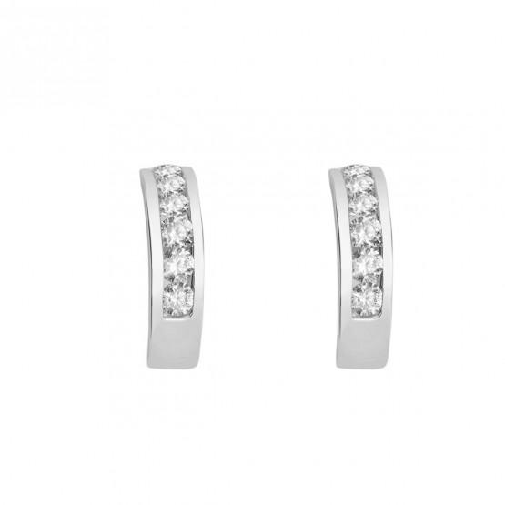 Pendientes de novia oro blanco con 12 diamantes 0.36ct (75B0012)