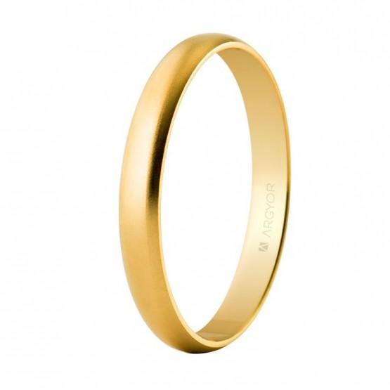 Alianza de boda oro clásica acabado arena 3mm (50305M)