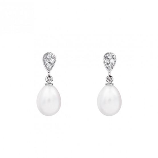 Pendientes para novia en plata y perlas (79B0200TE1) 1