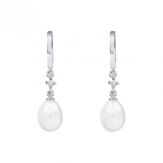 Pendientes de novia de oro blanco de18k con perlas (79B0301TE1) 1