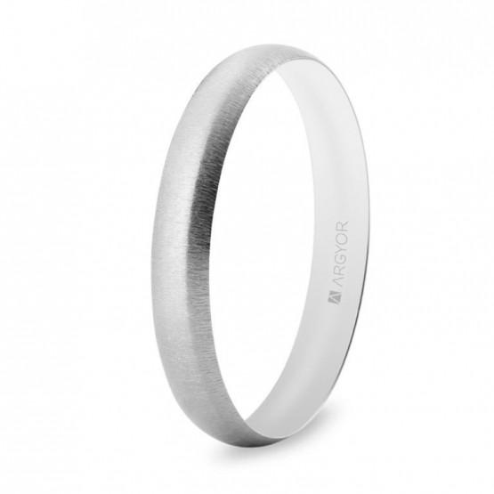 Anillo oro blanco boda texturizado 3,3mm (5B35513T)
