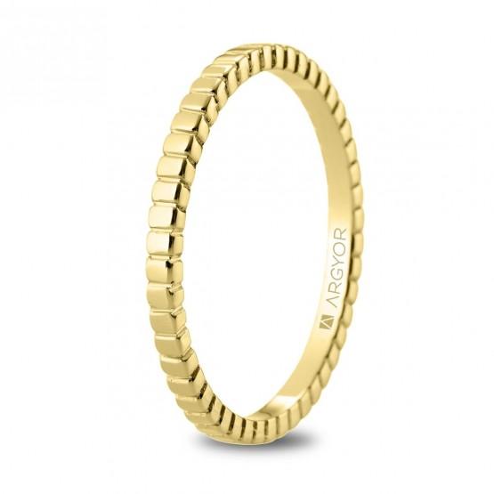 Alianza de boda en oro 18k geométrica (5118535)