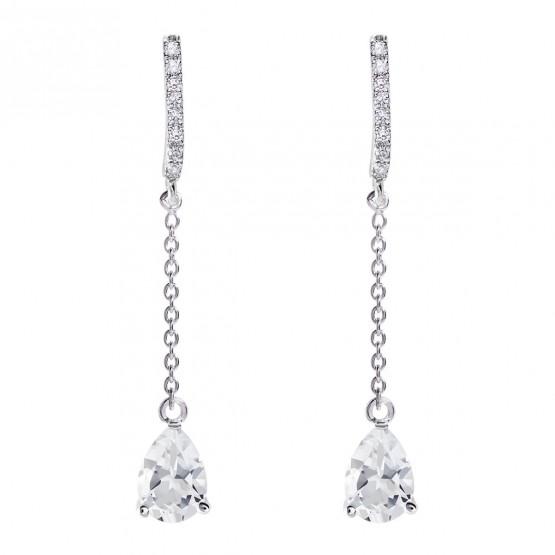 Pendientes de novia en plata y topacios cadena (79B0507TA1) 1