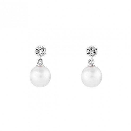 Pendientes para novia en plata y perlas (79B0600TD1) 1