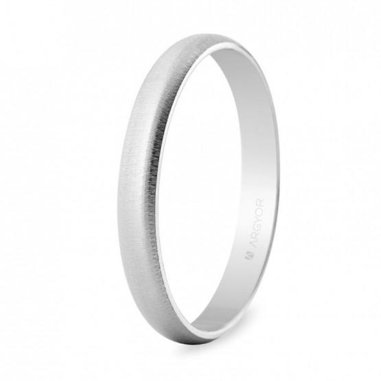 Alianza de boda oro blanco texturizada 3mm (5B305T)