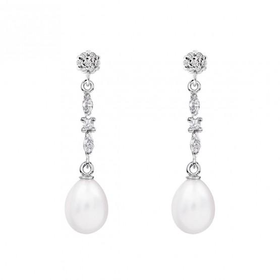 Pendientes de novia de oro blanco de18k con perlas (79B0605TE1) 1