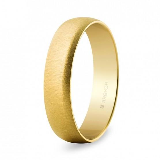 Alianza boda oro amarillo texturizada de 5mm (50505T)